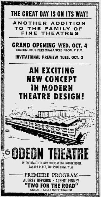 September 29th, 1967 grand opening ad