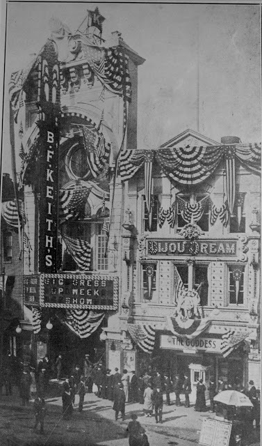 Palace = B.F. Keith's Theatre (vaudeville) and Bijou Dream theater