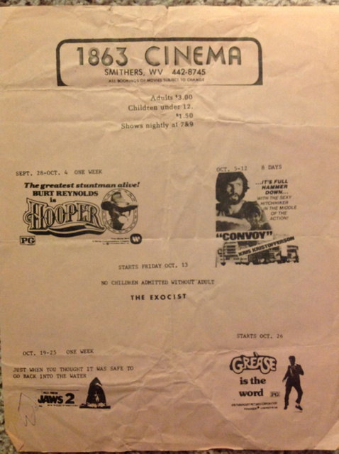 1863 Playbill from 1978