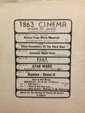 1863 Cinema Playbill Advertising the Opening of Cinema 63