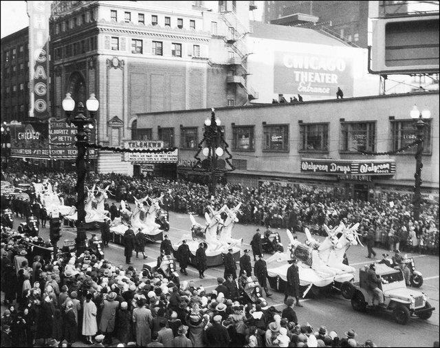 1951 Christmas parade. Photo courtesy of Darla Zailskas.