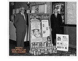 "<p>Midwest Theater, Oklahoma City, 1962 Pro Mo of ""Gay Purr-ee"" Photo taken in theater lobby. Pictured on left is Paul Townsend, City Manager and on right side is Ron Holder, Assistant Manager. Gay Purr-ee was Judy Garland's first and last animated film. Friskies Cat Food and local KOCO TV's HO HO the Clown provided Pro Mo free tickets.</p>"