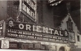 Oriental Theater in vaudeville days