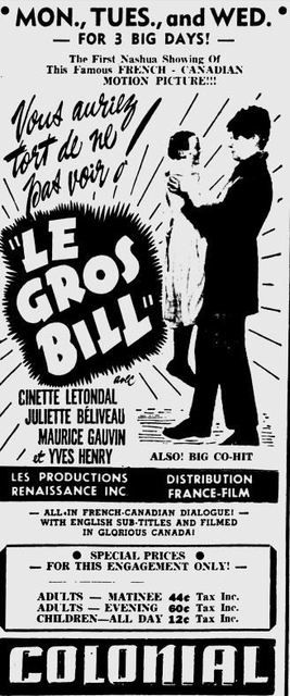 April 29th, 1950 Ad for an Quebecois film.