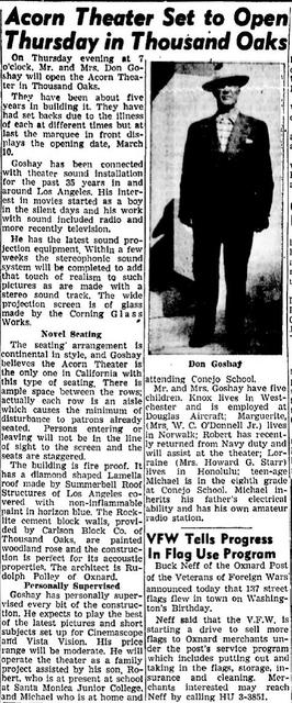 Article from March 8, 1955 Oxnard Press-Courier