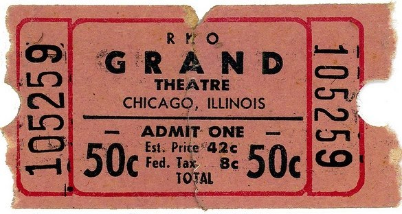 Grand Theatre ticket image courtesy of Ted Okuda.