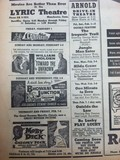1957 Lyric Theatre Newspaper Ad