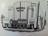 Drawing of Marshall Theatre