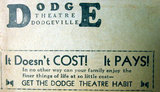DODGE Theatre; Dodgeville, Wisconsin.