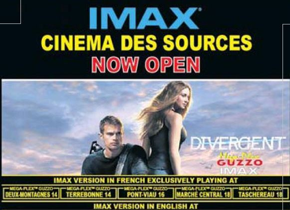 March 21st, 2014 grand opening for the IMAX screen