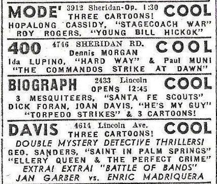 1943 print ad courtesy of Ted Okuda.