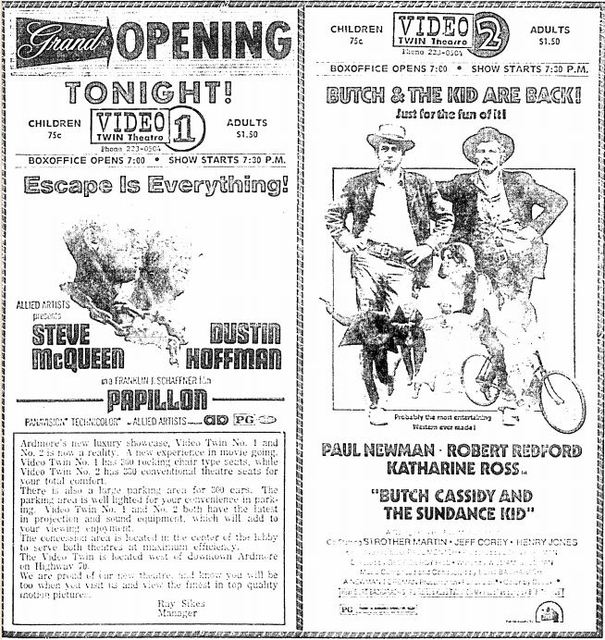 April 5th, 1974 grand opening as Video Twin