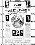 October 9th, 1927 grand opening ad as Ritz