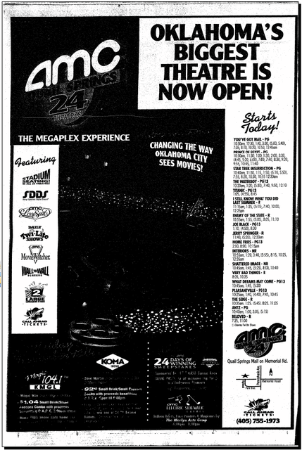 December 18th, 1998 grand opening ad
