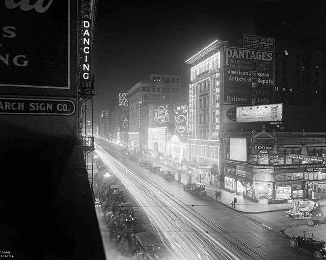Circa 1920's photo as Pantages courtesy of George Garrigues.