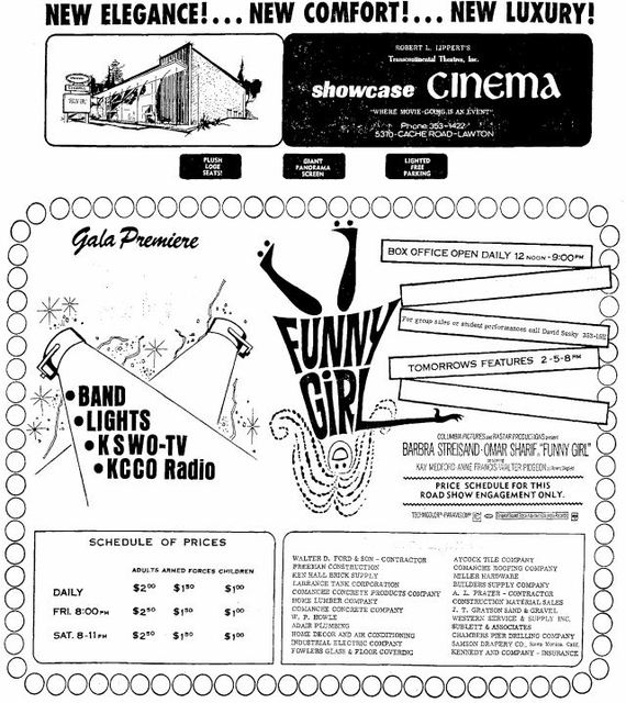 October 24th, 1969 grand opening ad