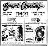 July 14th, 1972 grand opening ad