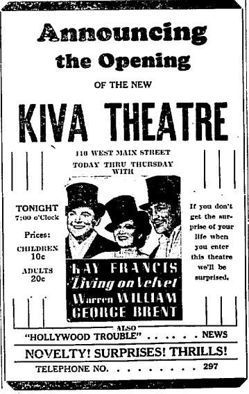 March 13th, 1935 grand opening ad
