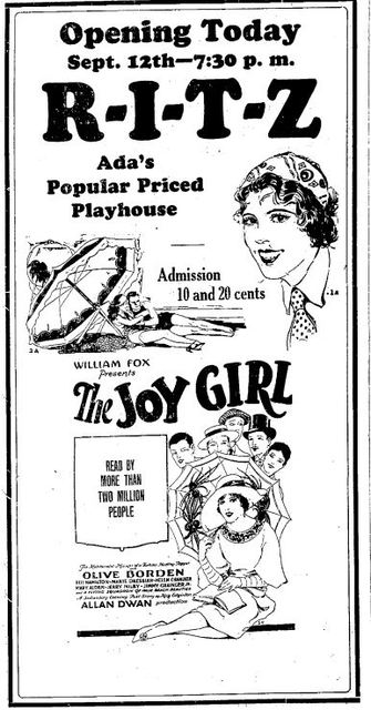 September 12th, 1927 grand opening ad