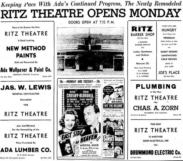 August 20th, 1939 reopening ad