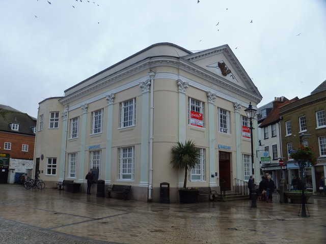 Corn Exchange Romsey in use as a Bank 2014