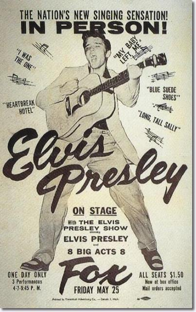 Poster for the Elvis show at the Fox.