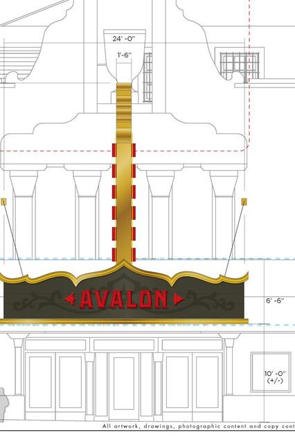AVALON Theatre' Milwaukee, Wisconsin: marquee/vertical sign proposals.