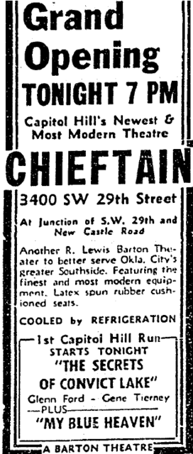 August 30th, 1951 grand opening ad