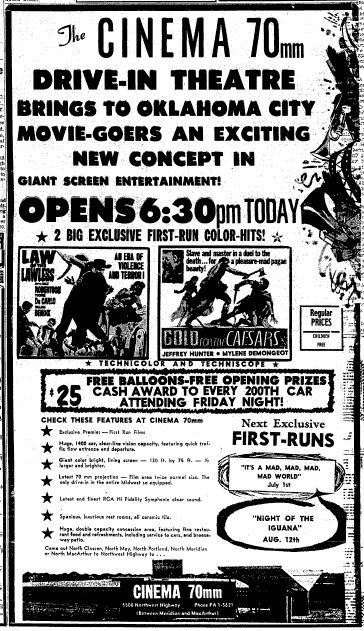 June 19th, 1964 grand opening ad