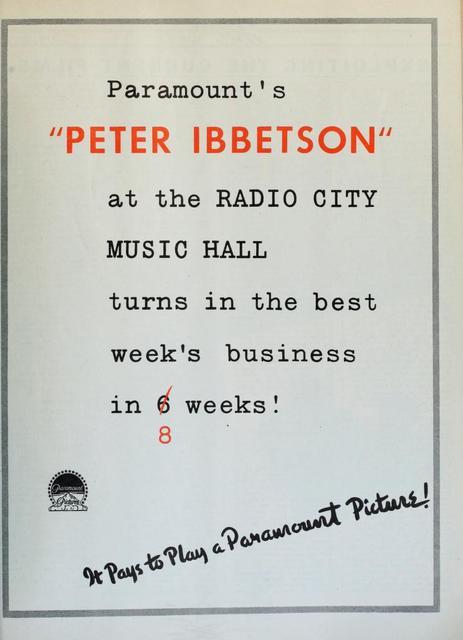 Radio City Music Hall 1935