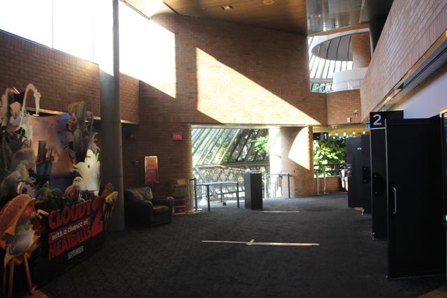 Upper lobby looking towards ramp