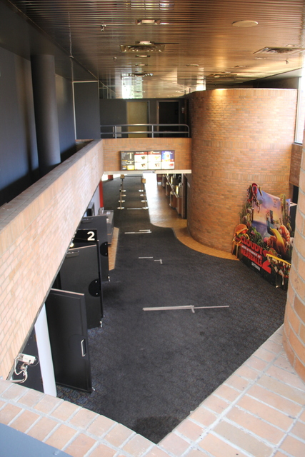High angle of upper lobby
