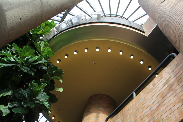 Looking up from lower lobby