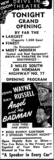 1947 opening ad as Odom Drive-In