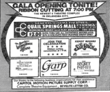 July 23rd, 1982 grand opening ad