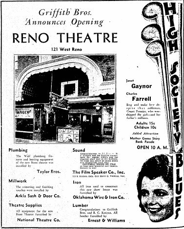 December 25th, 1930 grand opening ad