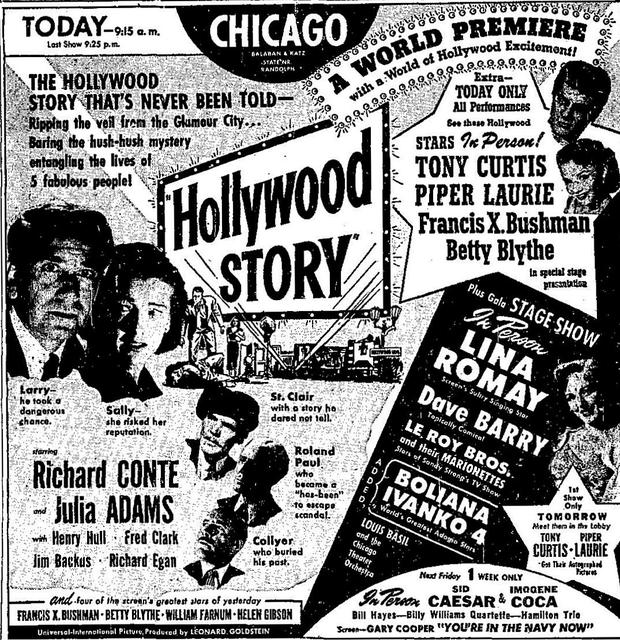 A World Premiere Engagement that opened on June 1st, 1951