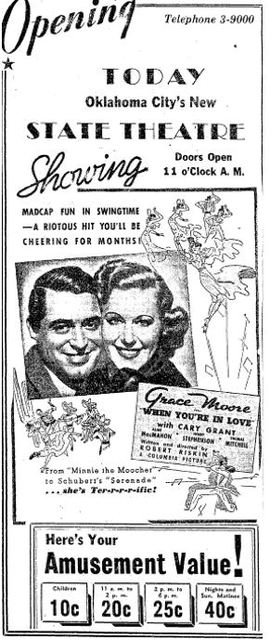 1937 grand opening ad