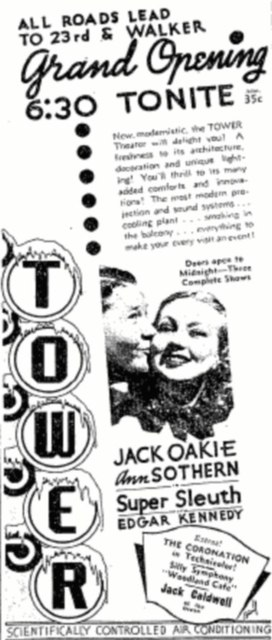 July 15th, 1937 grand opening ad