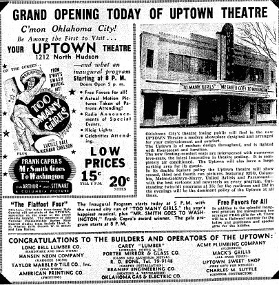 February 6th, 1941 grand opening ad