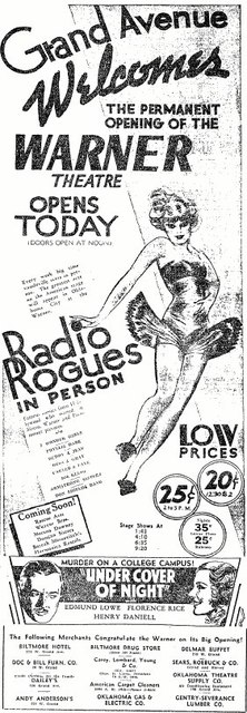 February 26th, 1937 grand opening ad
