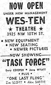 1949 Grand opening ad