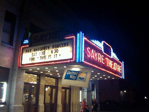 Sayre Theater. lights
