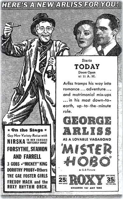 Ad for Roxy that appeared on February 7th, 1936