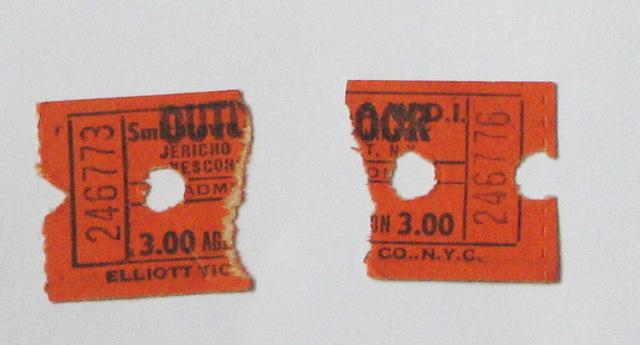 vintage 1970s tickets !