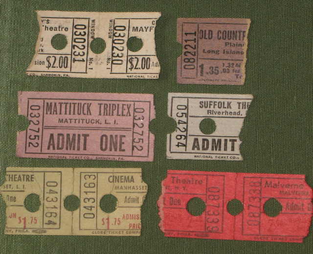 Vintage Long Island Movie tickets!