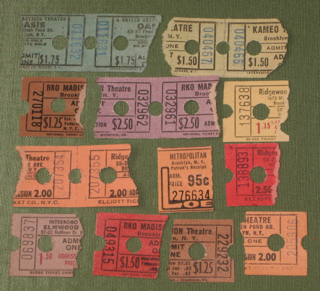 vintage Midwood ticket within