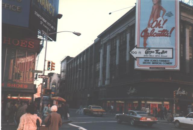 NYC former STRAND Theatre - West 47tth St view 1986