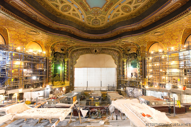 View of the auditorium during renovation