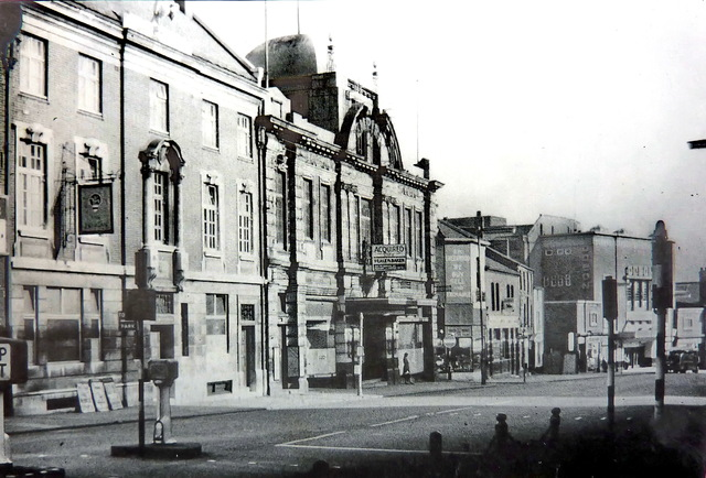 1960's, The Pelican Inn and the Empire Cinema, Buttermarket Street.